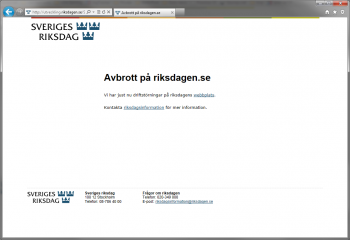 Anonymous attacks several Swedish sites